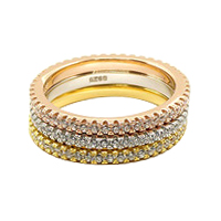Real Silver Micro Pave Setting Eternity Ring