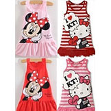 2014 Kids' Girls' Clothes Cute Mickey Mouse Minnie Dress 2 Colors Of Red & Pink Mini Clothes Kt Cat Baby Girls' Dress