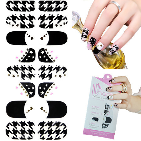 Wholesale 16pcs Hot Stamping Nail Patch 12 Designed Mixed