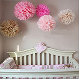1 Mixed 3 Sizes 10cm 15cm 20cm Tissue Paper Pom Poms Wedding Party Baby Shower Nursery Festival Decoration