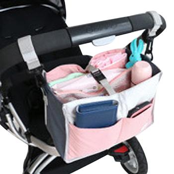 Carrinho de bebê Organizer recipiente de armazenamento de criança geral estiva Tidying saco de grande capacidade saco de Buggy transporte cabide para mães
