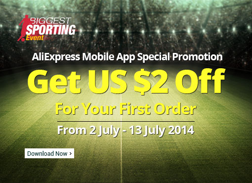 Aliexpress Mobile App Special Promotion