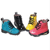 Kids' Leather Boots Candy Colors Size 21-25