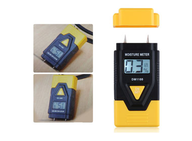 New Arrival 3 IN 1 Digital Moisture Meter for Wood ,Ambient Temperature Meter for building material
