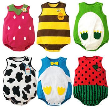 Na moda infantil terno do bebê menina menino padrão de desenho animado Romper macacão da criança vestuário