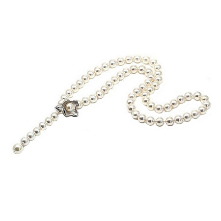 XD YS0479 925 Silver Pearl Magnetic Clasp Handmade Pearl Necklace