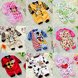 Kids' Pajamas Newborn Baby Rompers Cartoon Infant Cotton Long Sleeve Jumpsuits Boy's Girls' Spring Summer Wear
