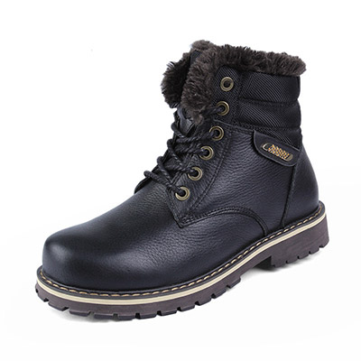 Men's Snow Boots Genuine Leather