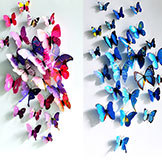 3D Three-Dimensional Wall Stickers Butterfly Fridge Magnet Wedding Photography Props 12 Suit