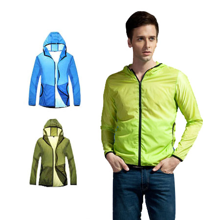 2014 New Wholesale Outdoor Spring & Summer Men Ultra-Light UPF+ Jacket Windproof Waterproof SkincoatH818A