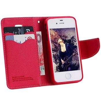 новинка Мода кожаный бумажник для iphone 4