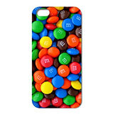 1PC Wow m & MS Chocolate Candies Style Clear Hard Back Cover Case iPhone 4/4S 5 5S