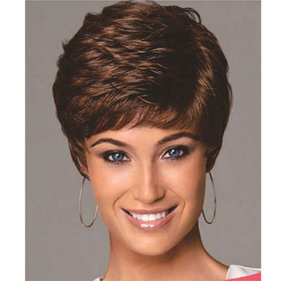 Women's Short Synthetic Wig Brown