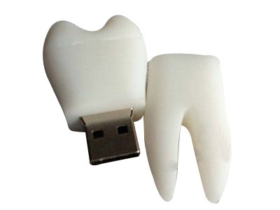 Pen drive USB 8GB 2.0 no formato de dente