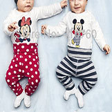 Baby Printed Cotton Clothing Set of Long-Sleeved Rompers & Pants & Hat