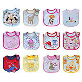 Baby Girl Boy Towel Saliva Waterproof Kids' Cartoon Pattern 3 Layer Toddler Lunch Bibs Burp Cloths