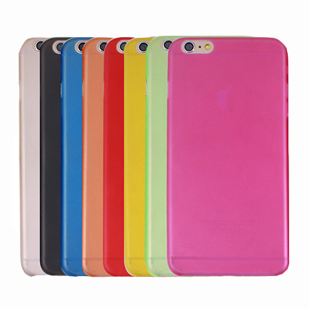 Wholesale Ultrathin Clear Matte Transparent PC Phone Case for iPhone 6 Plus Case 10 Color Can Mix Stock