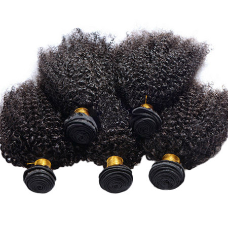 Free Shipping mogolian remy afro kinky bady curl sew in hair weave