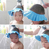 baby Child Kid Shampoo Bath Shower Wash Hair Shield Hat Cap Yellow Pink Blue New