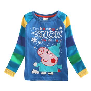 Varejo nova chegada t camisa comprida básica de impressão olaf roupa dos miúdos dos meninos camisetas meninos tops roupa das crianças crianças